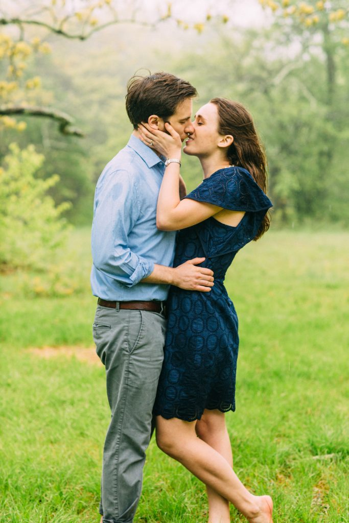Cold Mountain Engagement Coupe kissing