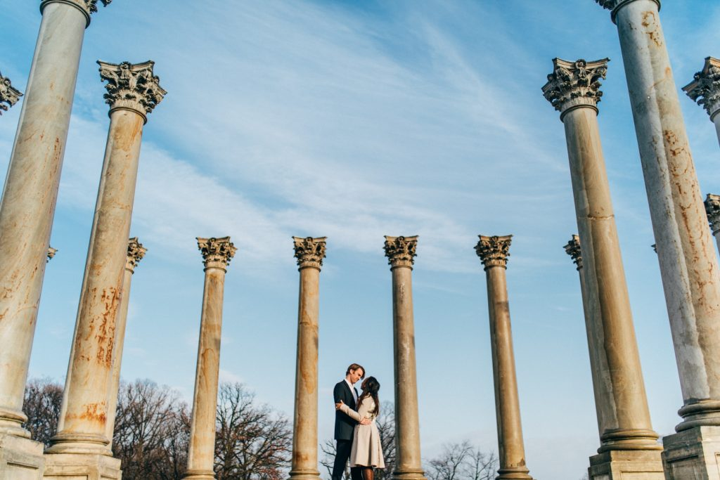 Capitol Columns Engagement, virginia wedding photographer