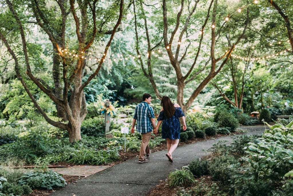 hahn horticulture garden engagement session