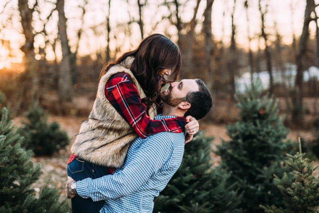 Hamill Christmas Tree Farm Engagement, Virginia Wedding Photographer