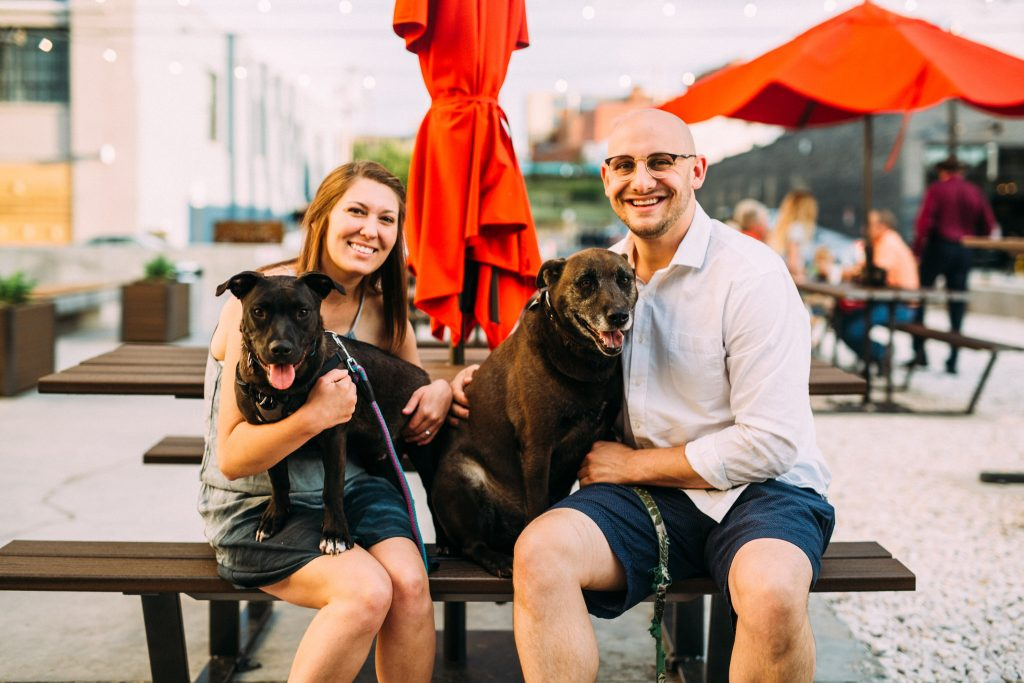 downtown roanoke engagement