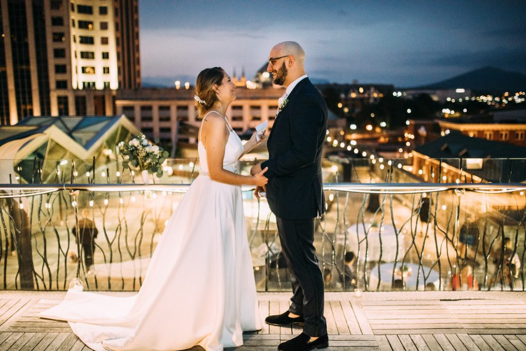 The Penthouse Center in the Square Wedding