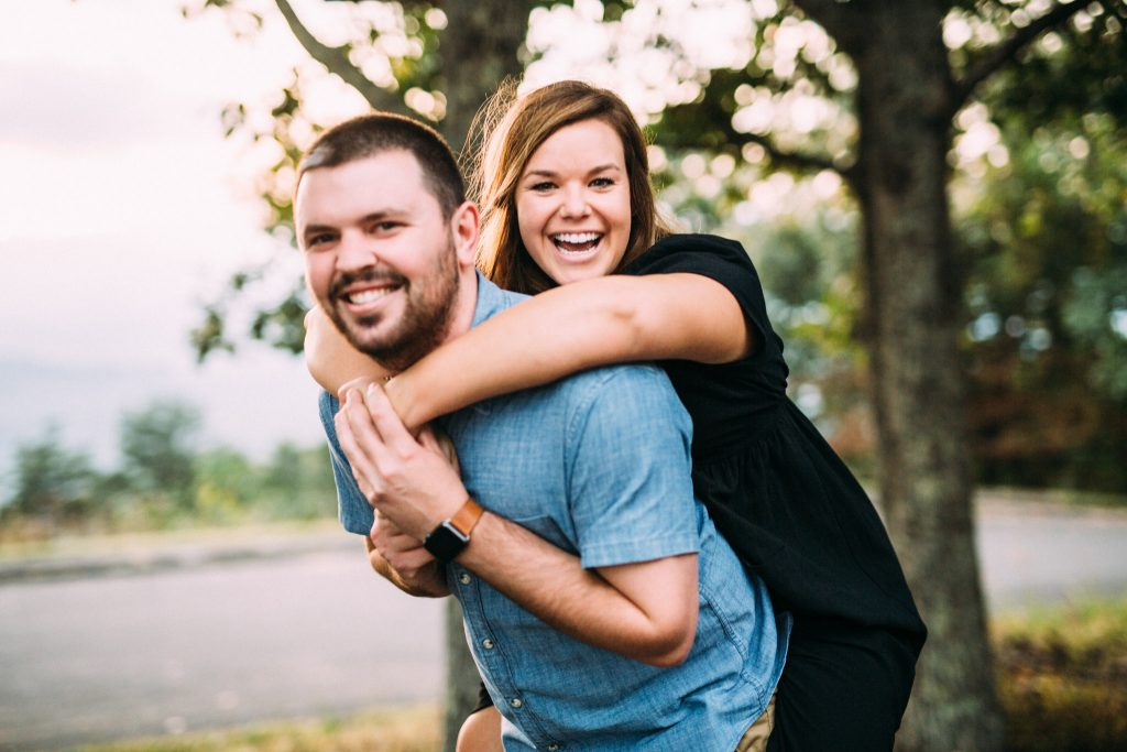 roanoke mountain engagement session