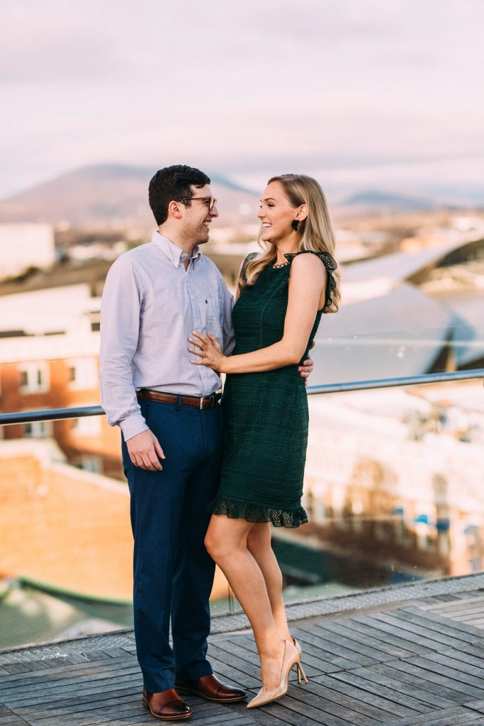 penthouse center in the square engagement session