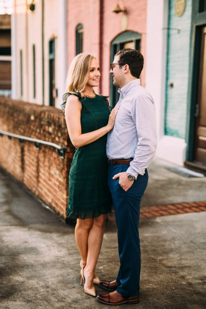 downtown roanoke engagement session