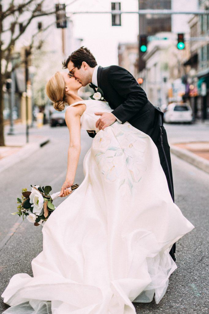 painted wedding dress