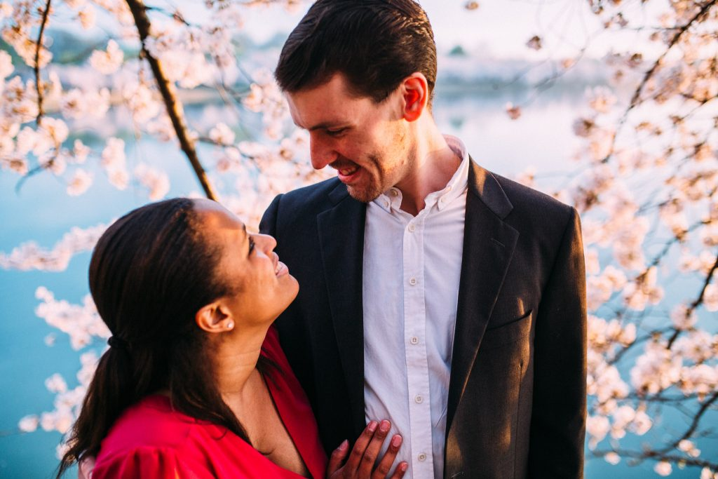 tidal basin dc cherry blossom engagement