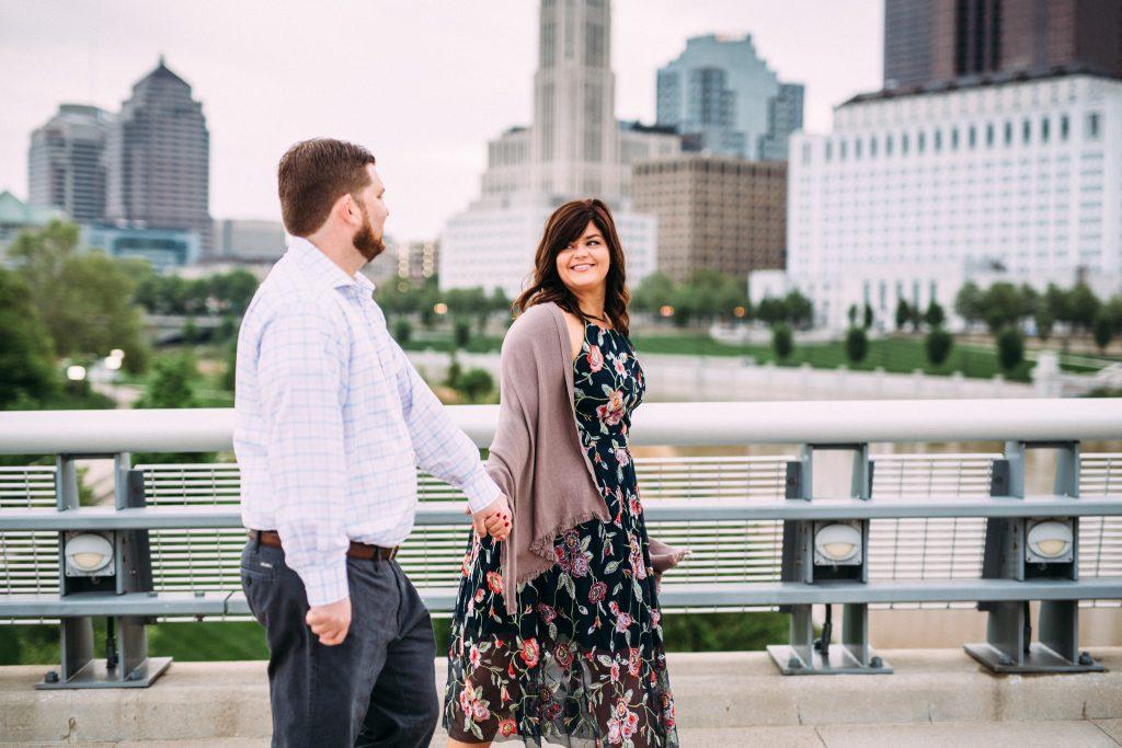 downtown columbus ohio engagement