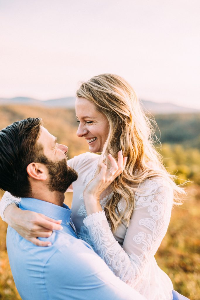 blue ridge parkway overlook engagement session